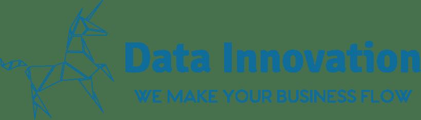 logo data innovation PNG azul
