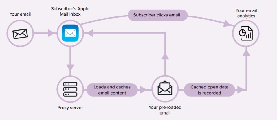 infografica Apple Mail Protection system